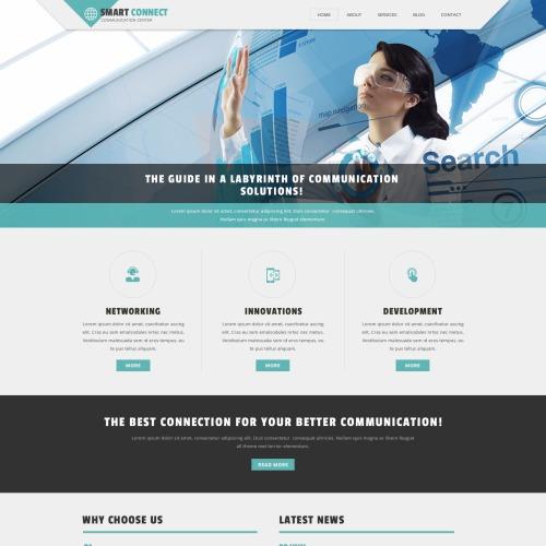 Smart Connect - Joomla! Communications Company Template