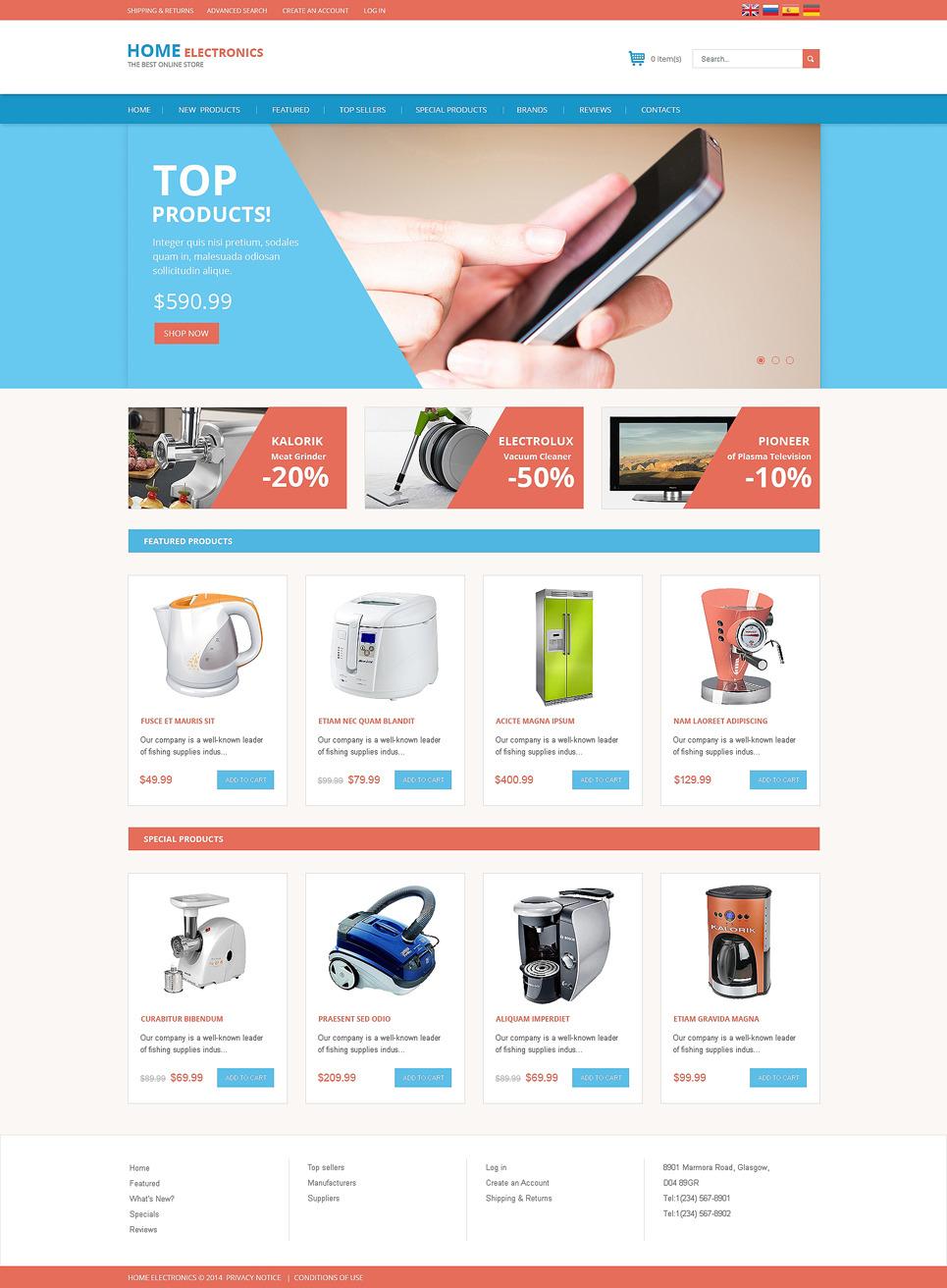 Consumer Electronics OsCommerce Template New Screenshots BIG