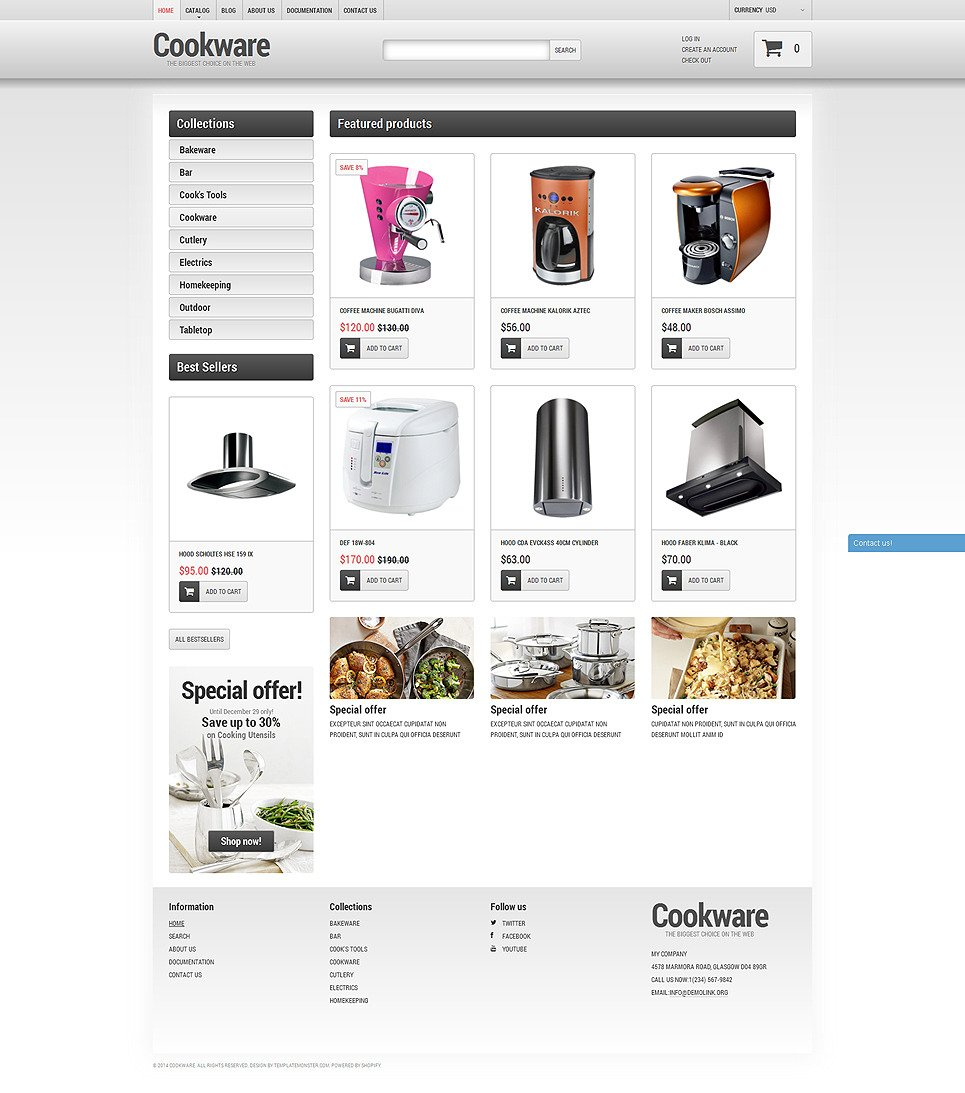 Cookware Shopify Theme New Screenshots BIG