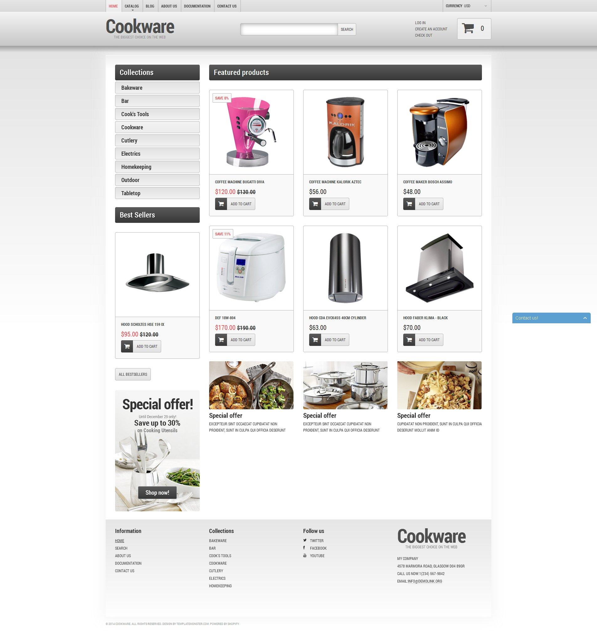 Cookware Tema de Shopify №51280