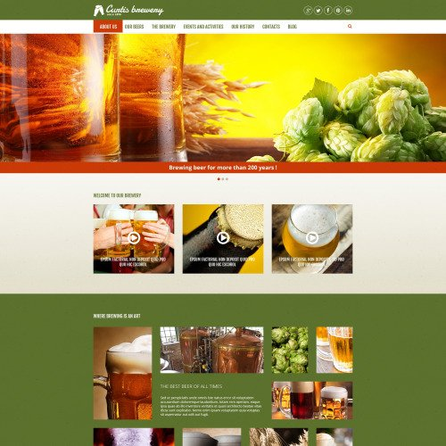 Curtis Brewery - Joomla! Template based on Bootstrap