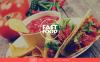 """Drupal шаблон """"Fast Food"""" New Screenshots BIG"""