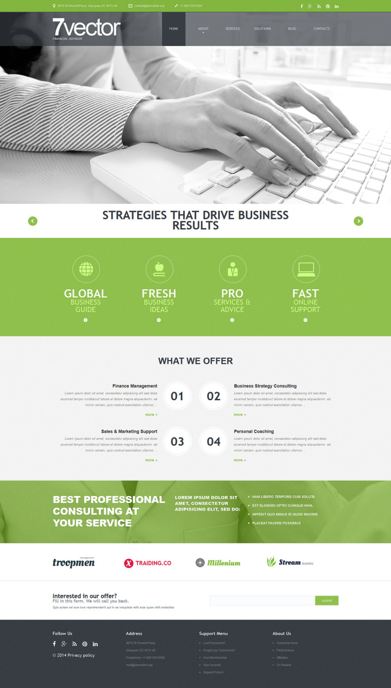 Experienced Consulting Group Joomla Template New Screenshots BIG