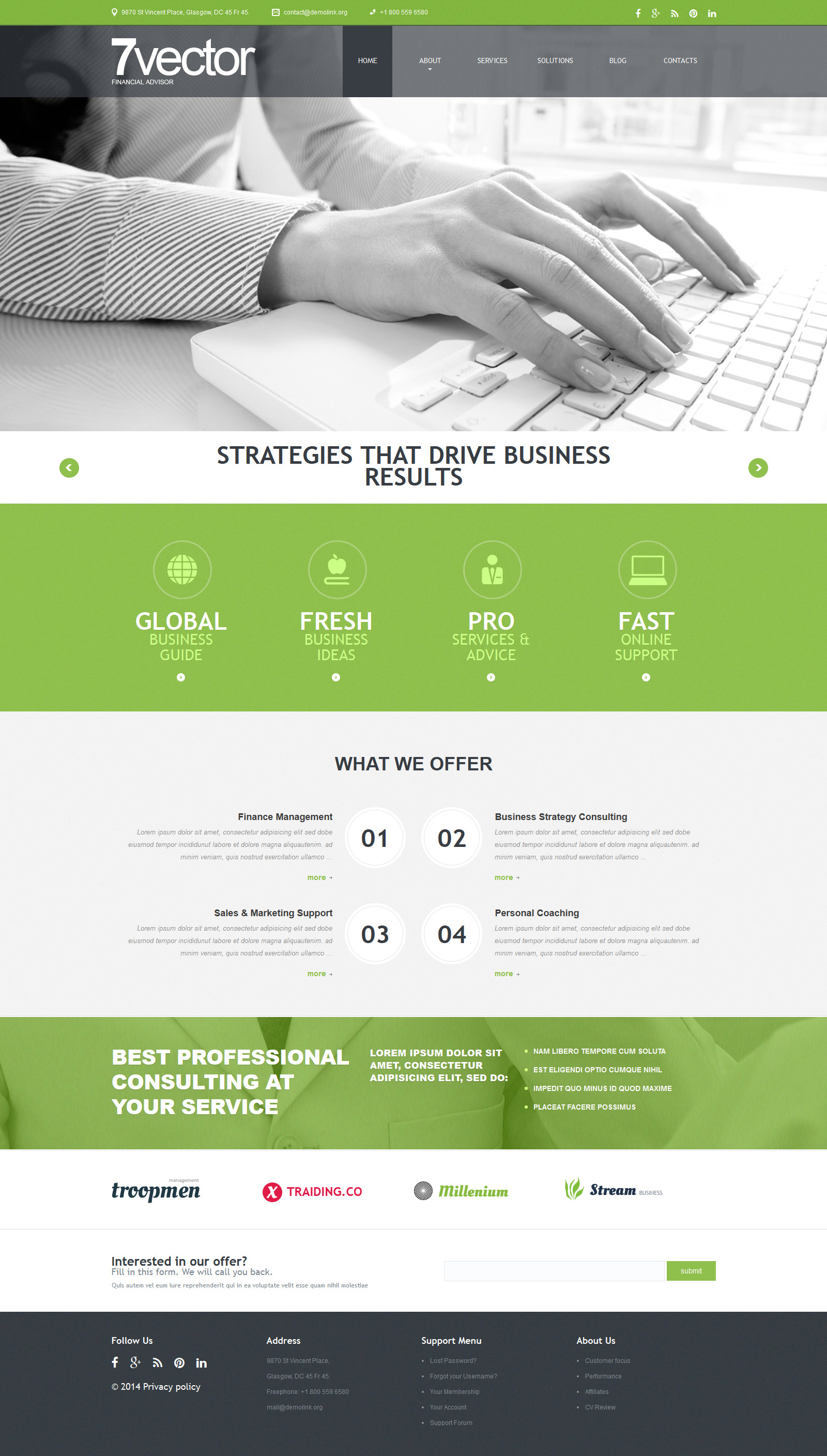 """Experienced Consulting Group"" Responsive Joomla Template №51291 - screenshot"