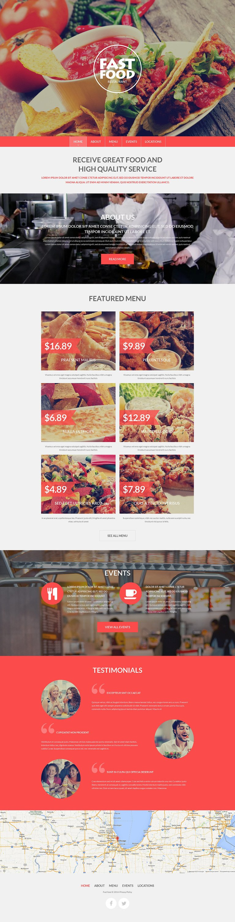 Fast Food Drupal Template New Screenshots BIG