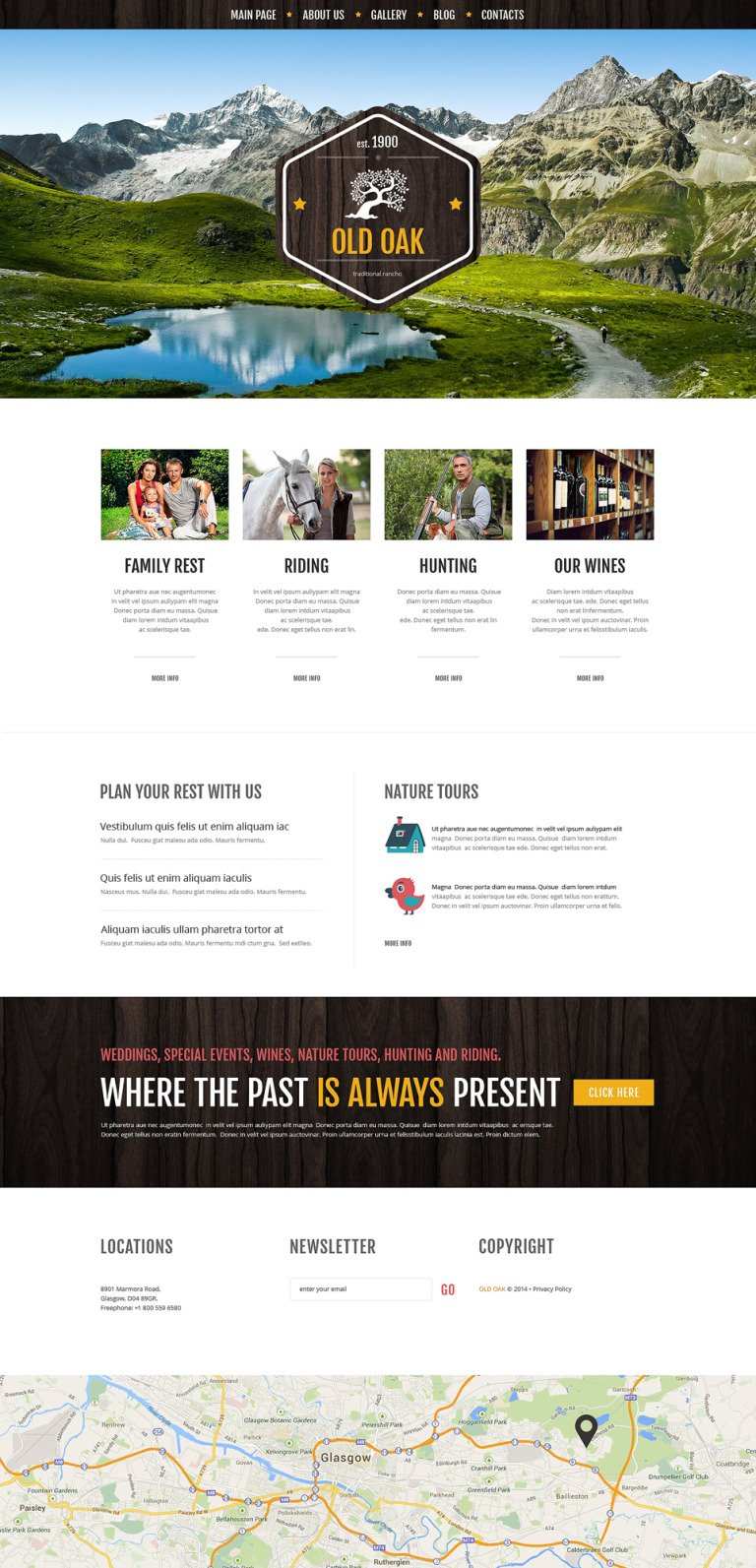 Favorable Ranch Location WordPress Theme New Screenshots BIG