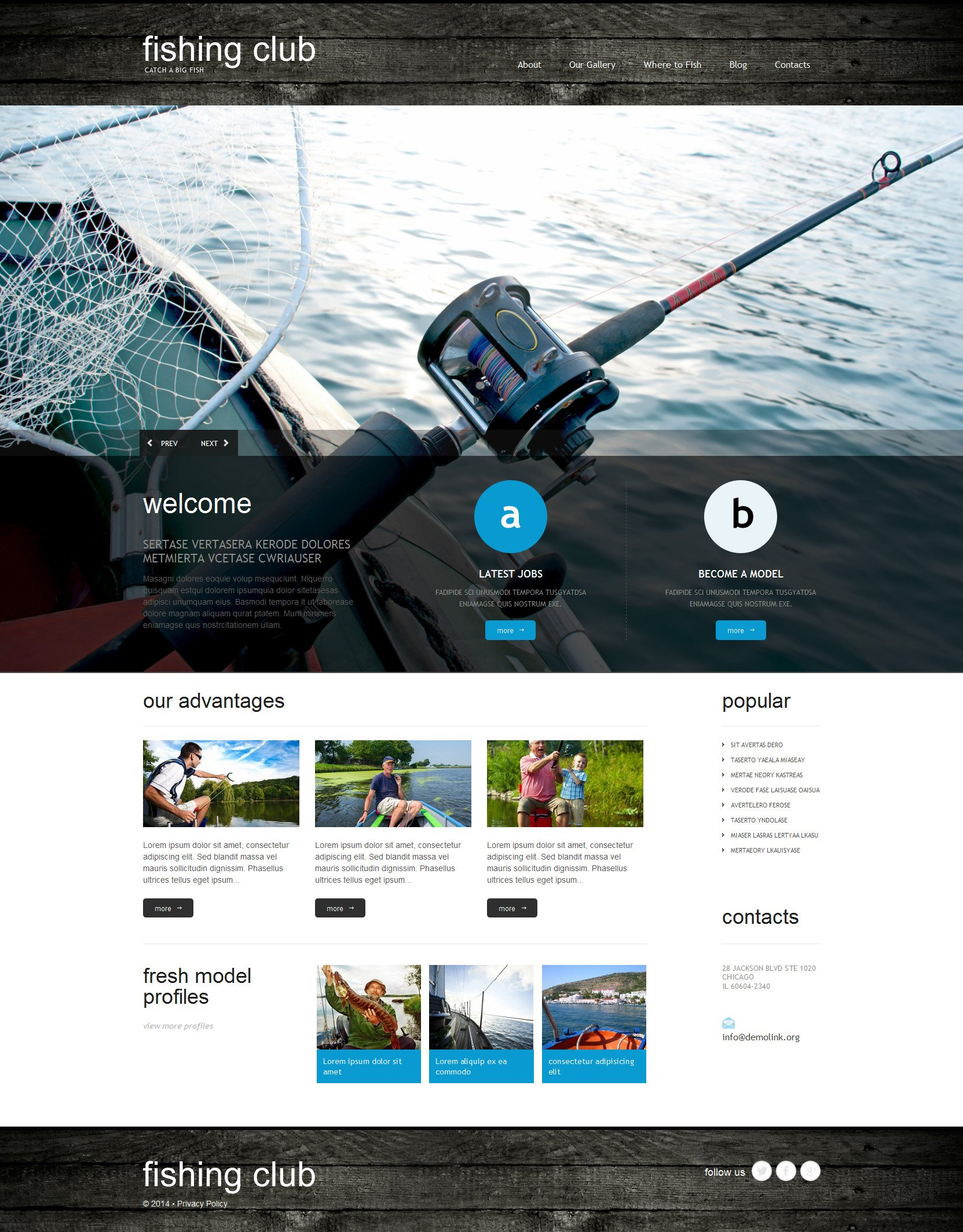 Fishing Responsive WordPress Theme - screenshot