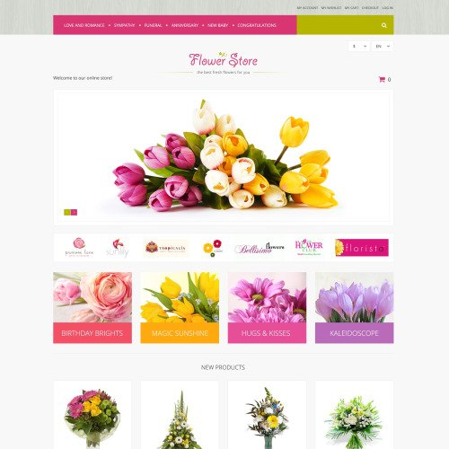 Flower Store - Responsive Magento Template
