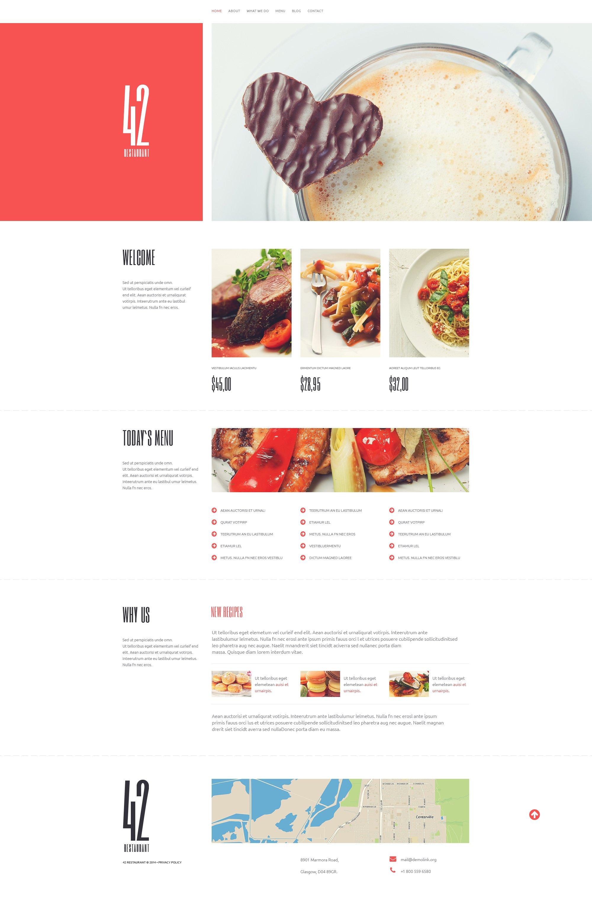 Food Place WordPress Theme - screenshot