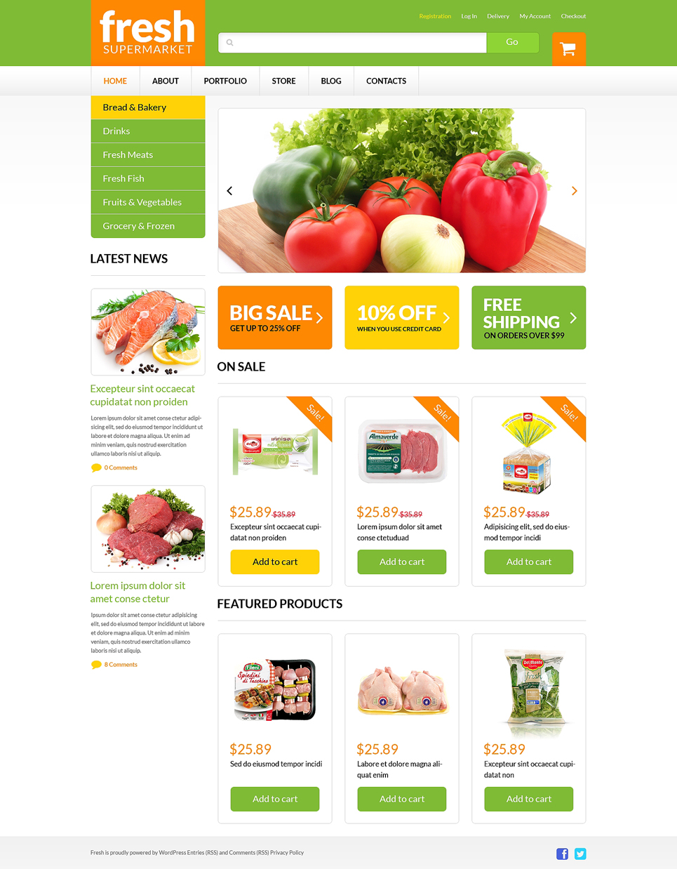 Grocery Web Shop Woocommerce Theme 51254
