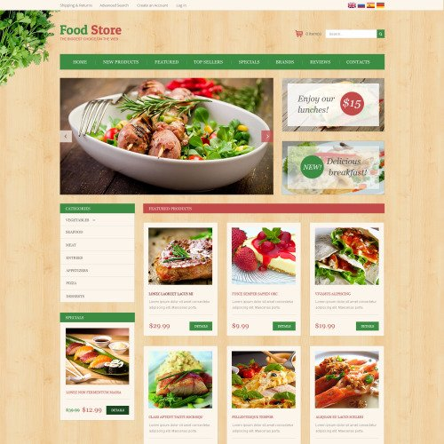 Food Store - osCommerce Template