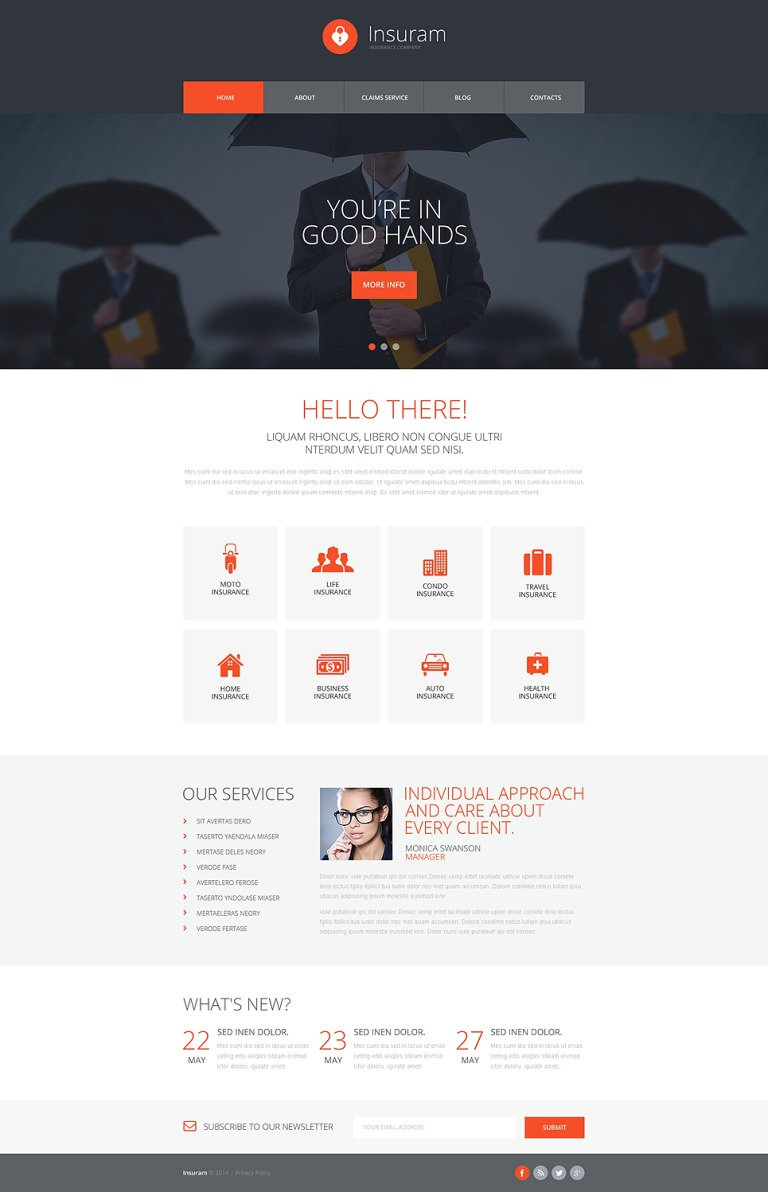 Insurance Responsive Website Template New Screenshots BIG