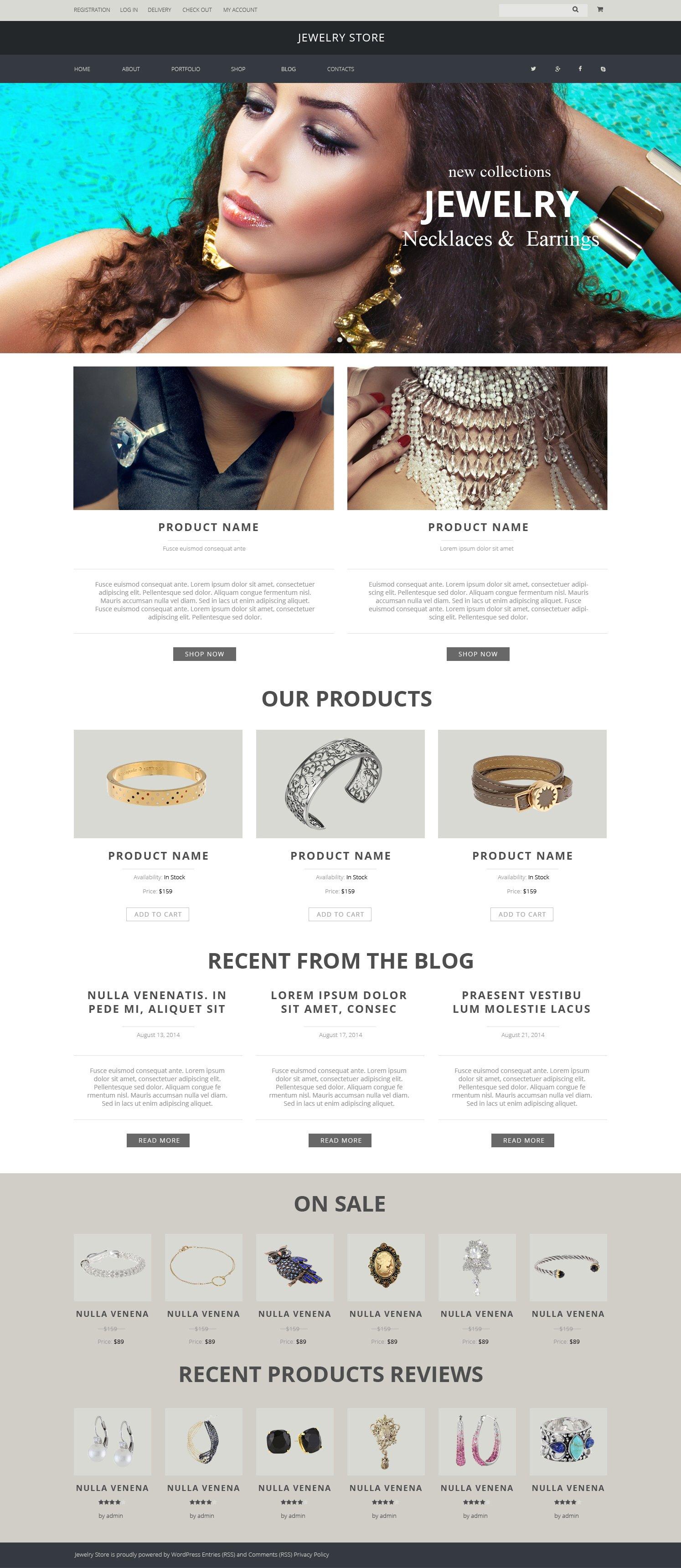 """Jewelry Pieces"" Responsive WooCommerce Thema №51227 - screenshot"