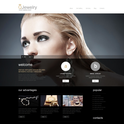 Q Jewelry - WordPress Template based on Bootstrap