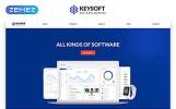 """Keysoft - Software Company Creative Multipage HTML"" modèle web adaptatif"