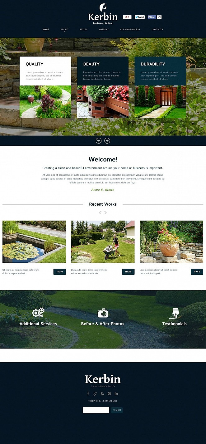 Landscape Design Flash CMS Template New Screenshots BIG