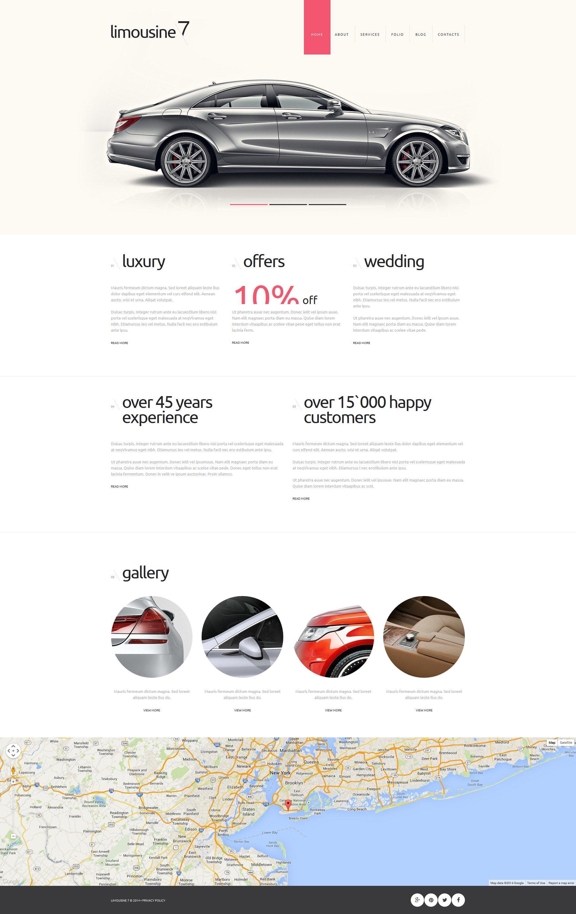 """Limousine Service"" - адаптивний Joomla шаблон №51215"