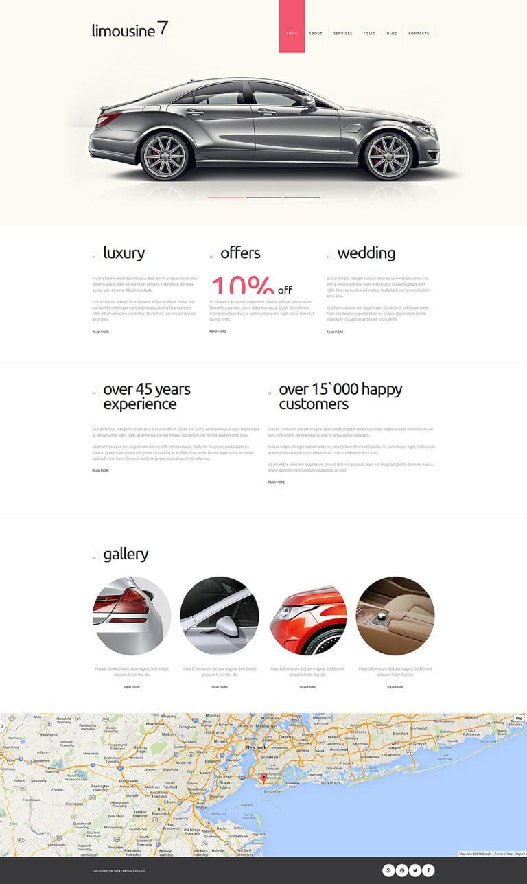 Limousine Service Joomla Template New Screenshots BIG