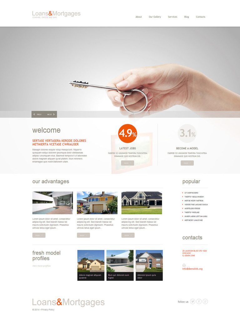 Mortgage Responsive WordPress Theme New Screenshots BIG