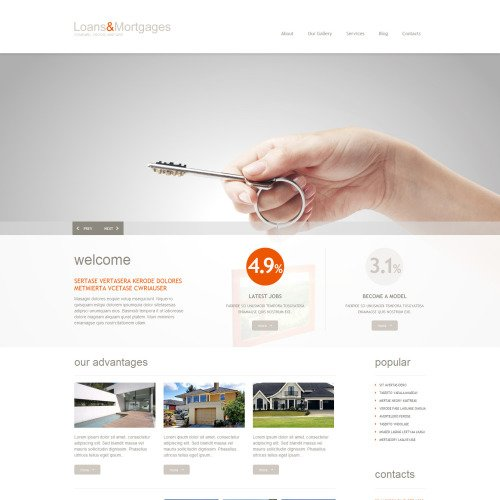 Loans & Mortgages - WordPress Template based on Bootstrap
