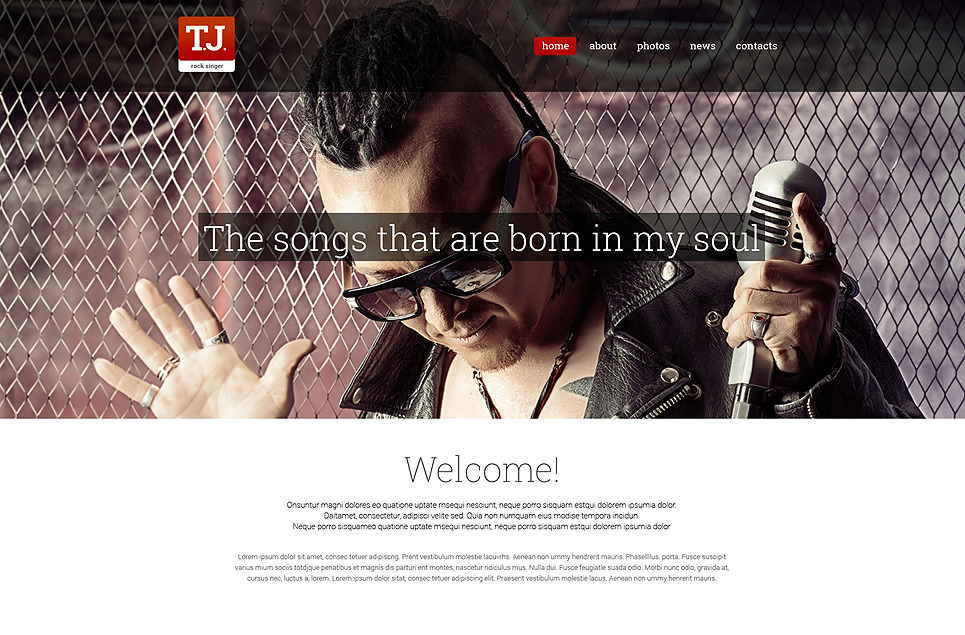 Music Fan Page Drupal Template