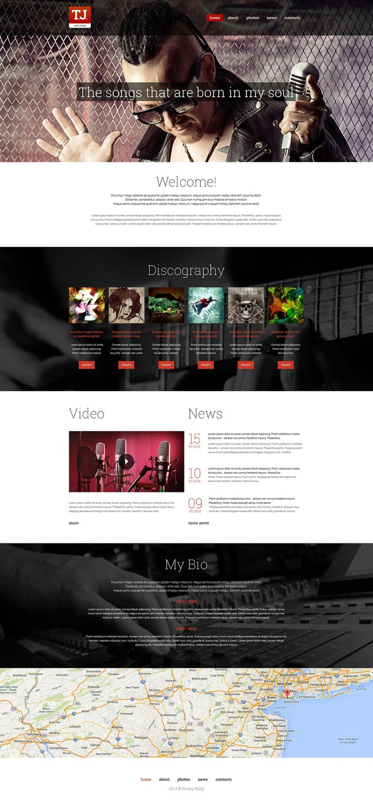 Music Fan Page Drupal Template New Screenshots BIG