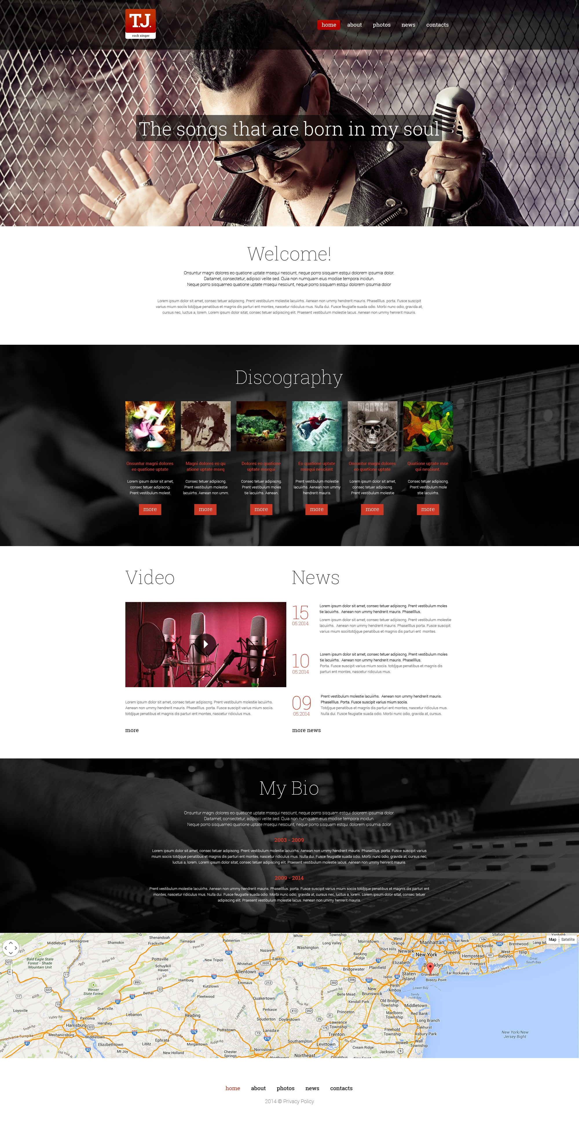 Music Fan Page Drupal Template - screenshot