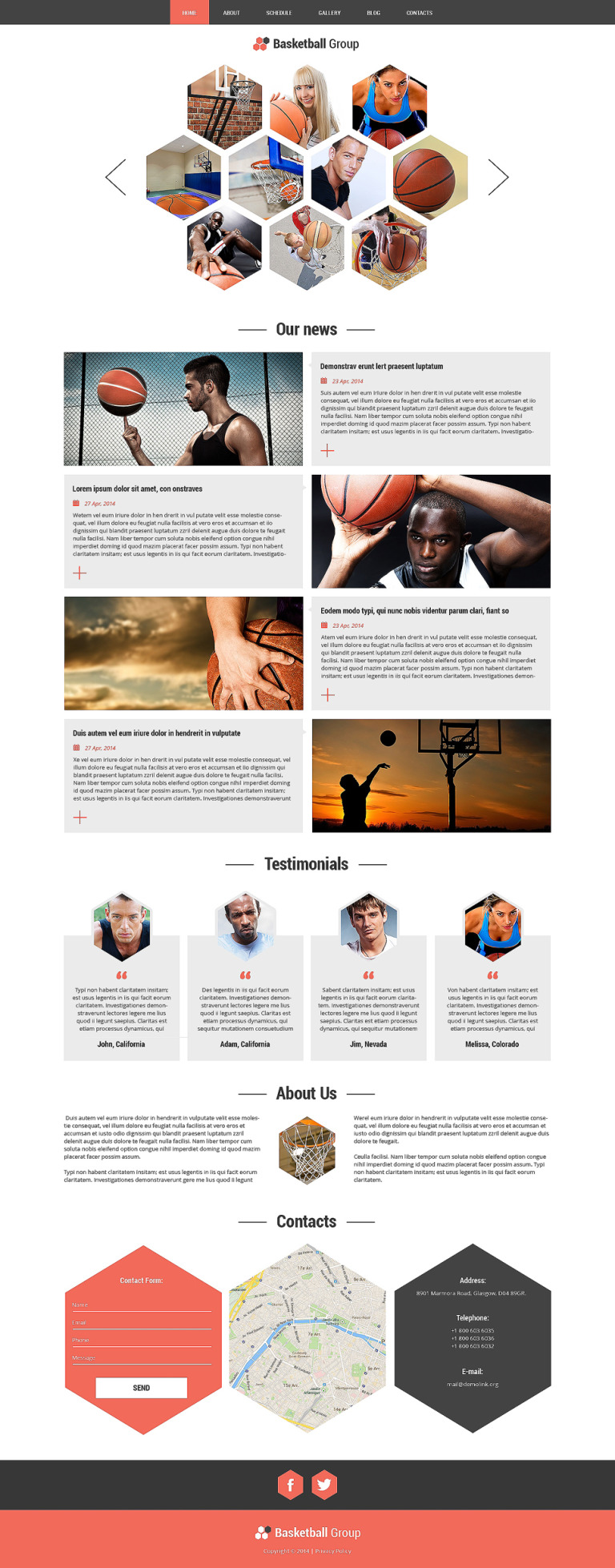 NBA Fan Board Joomla Template New Screenshots BIG
