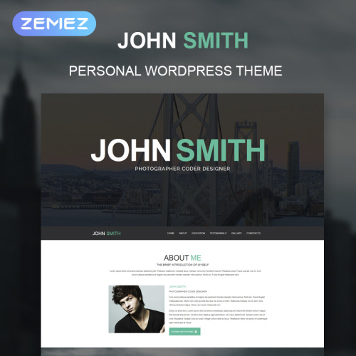 John Smith - WordPress Template based on Bootstrap