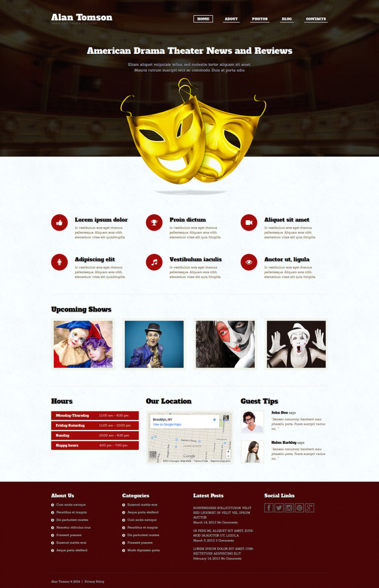 Personal Page Responsive WordPress Theme New Screenshots BIG