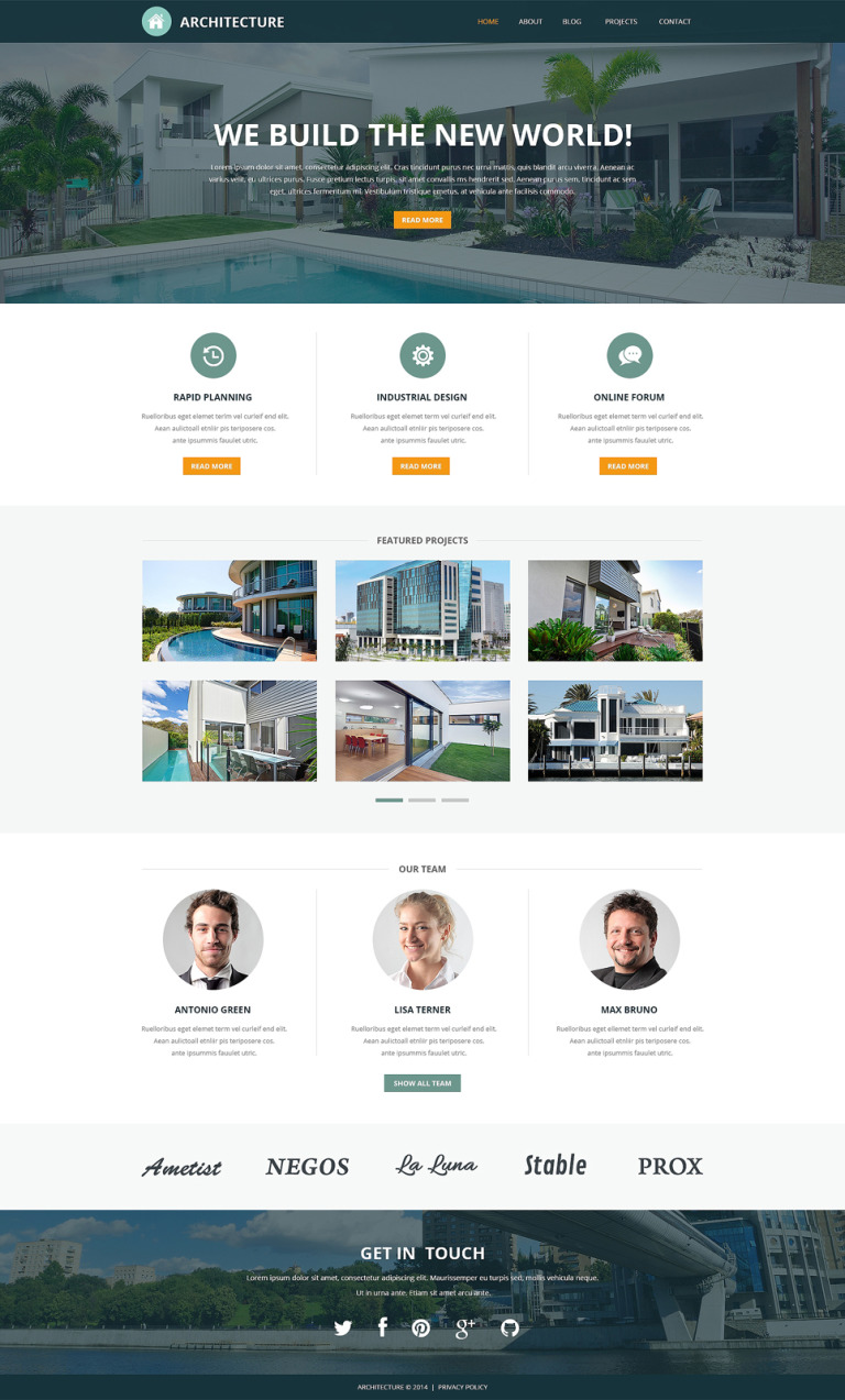Pro Architectural Designs Joomla Template New Screenshots BIG