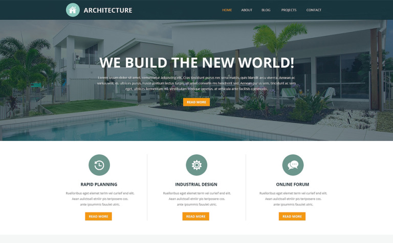 Pro Architectural Designs Joomla Template