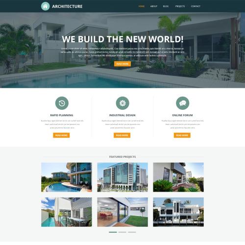Architecture - Joomla! Architectural Company Template