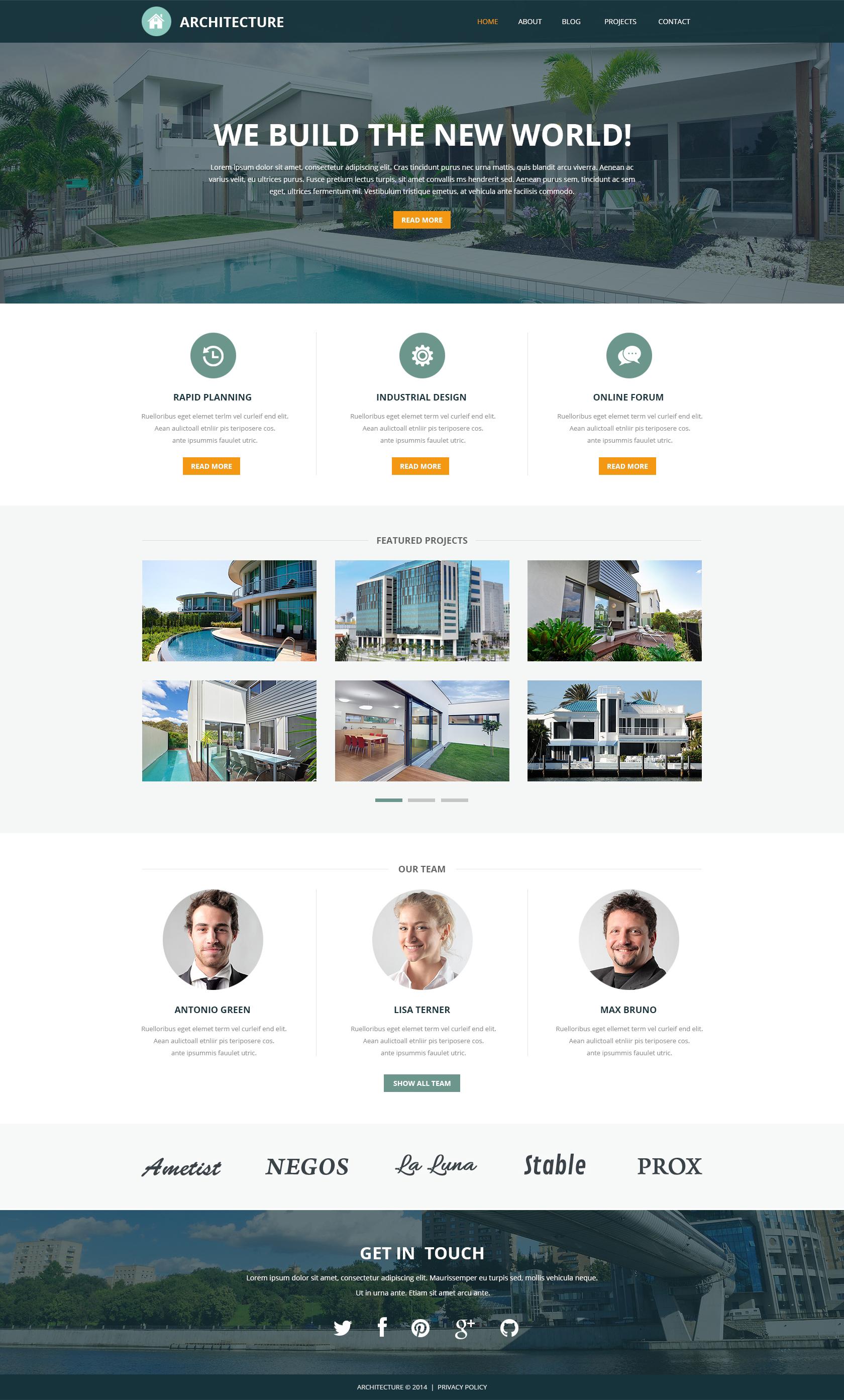 """Pro Architectural Designs"" Responsive Joomla Template №51247 - screenshot"