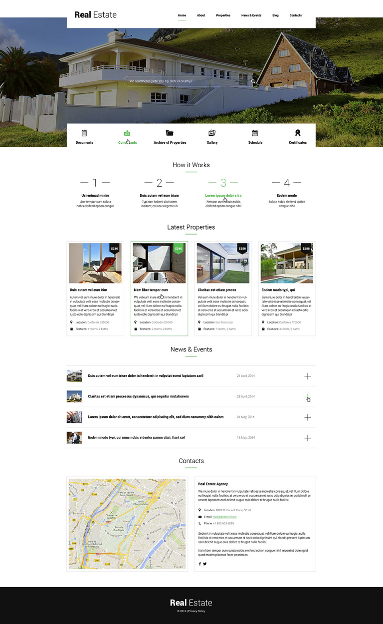 Renting Apartments WordPress Theme New Screenshots BIG