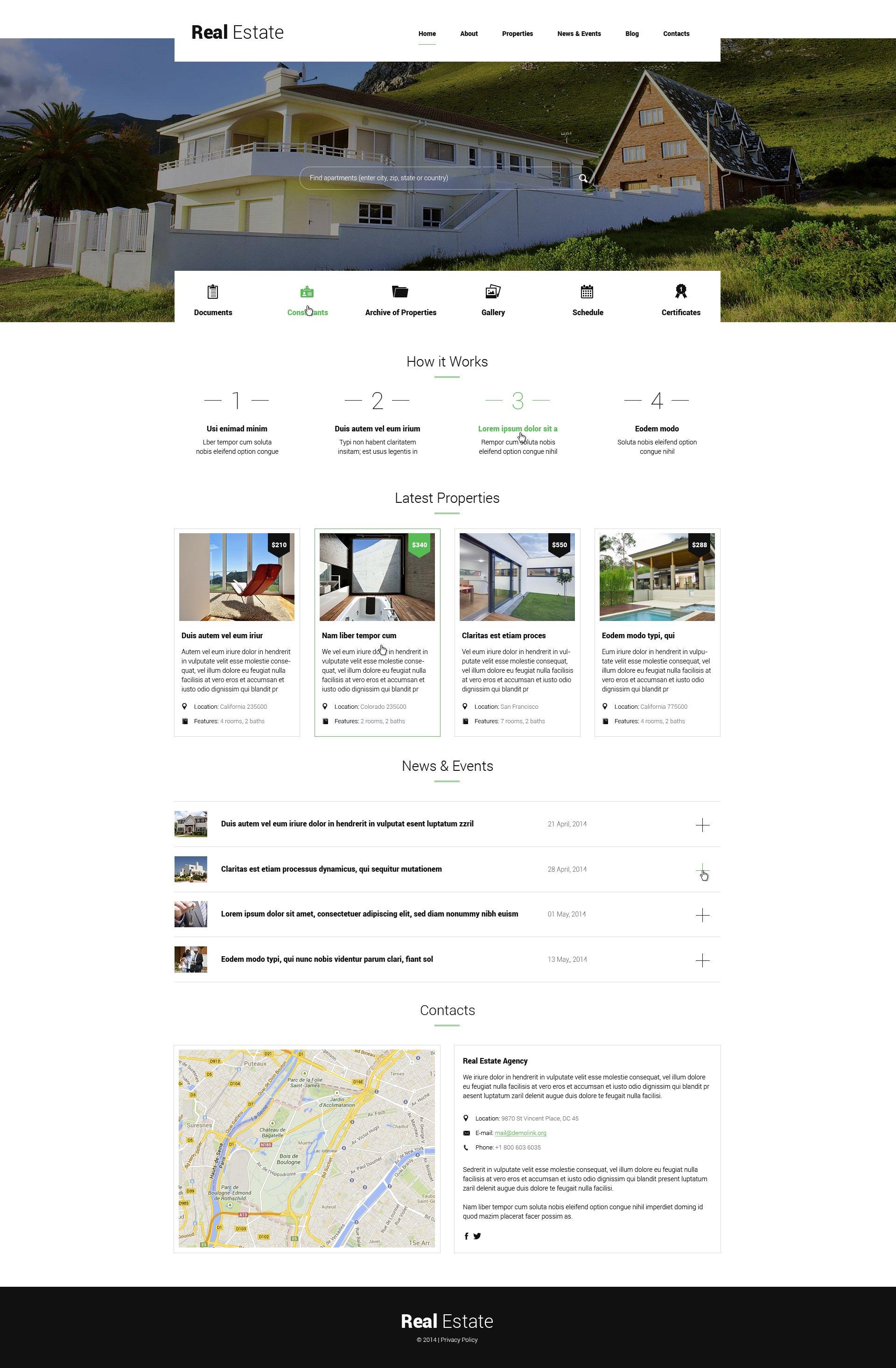 Renting Apartments WordPress Theme - screenshot