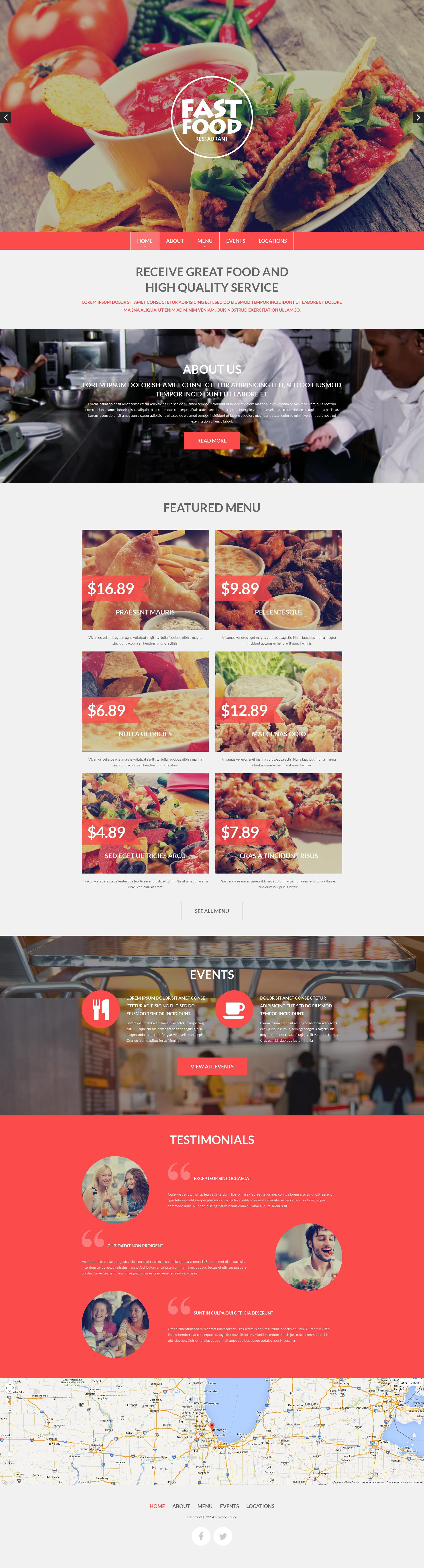 Responsive Fast Food Drupal #51203