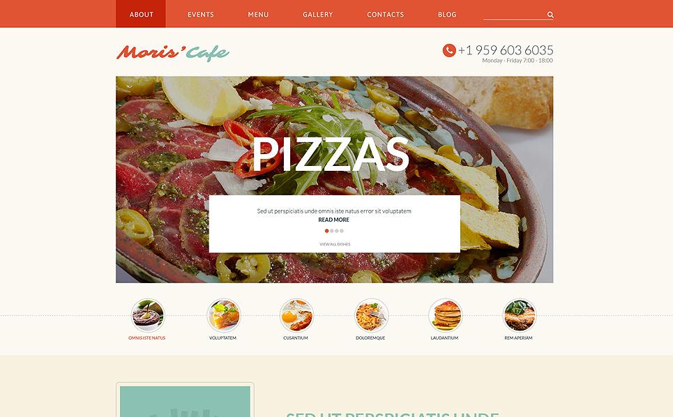Responsive Website Vorlage für Italienisches Restaurant  New Screenshots BIG