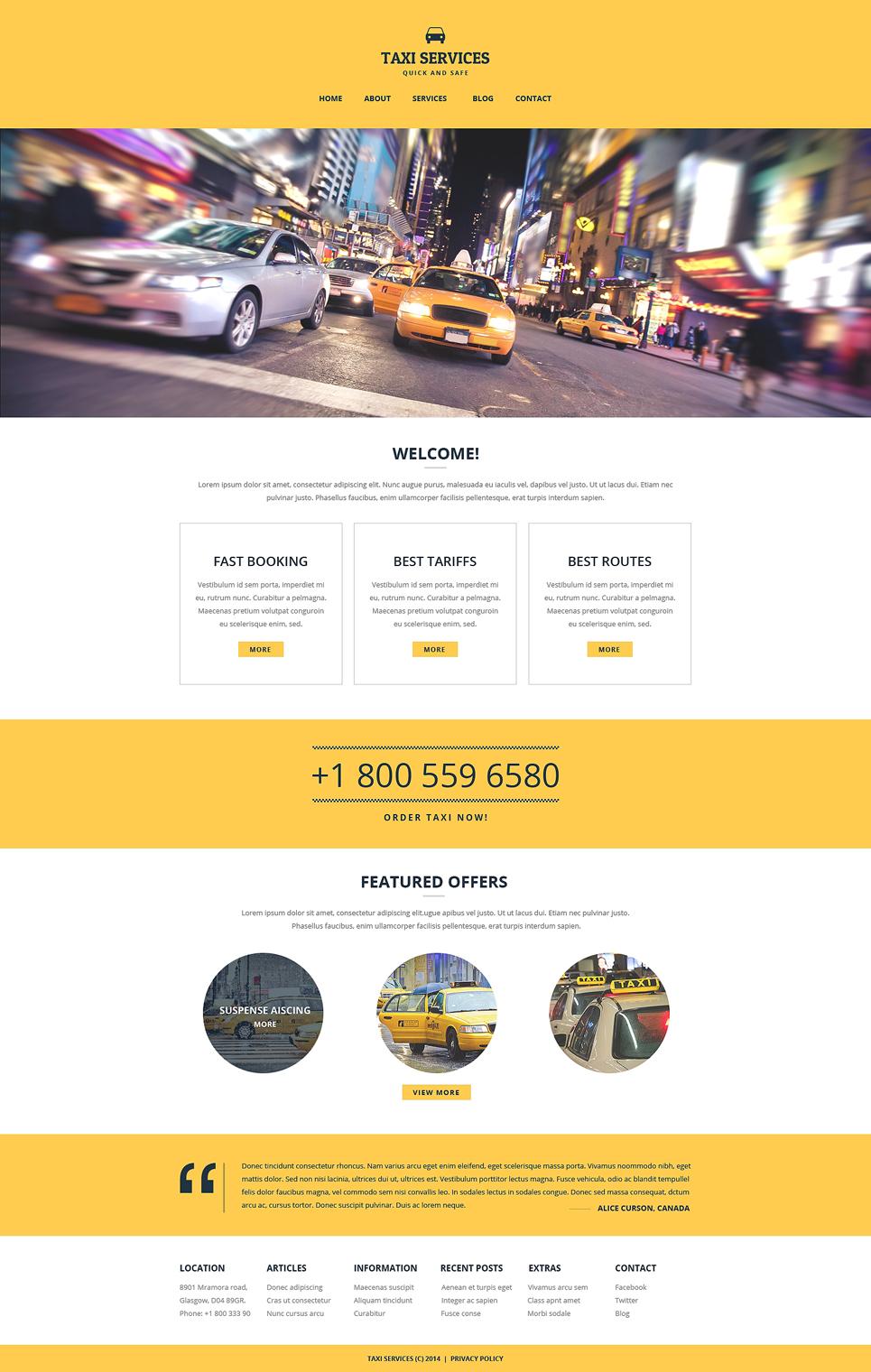 Website Vorlage #51252 für Taxi