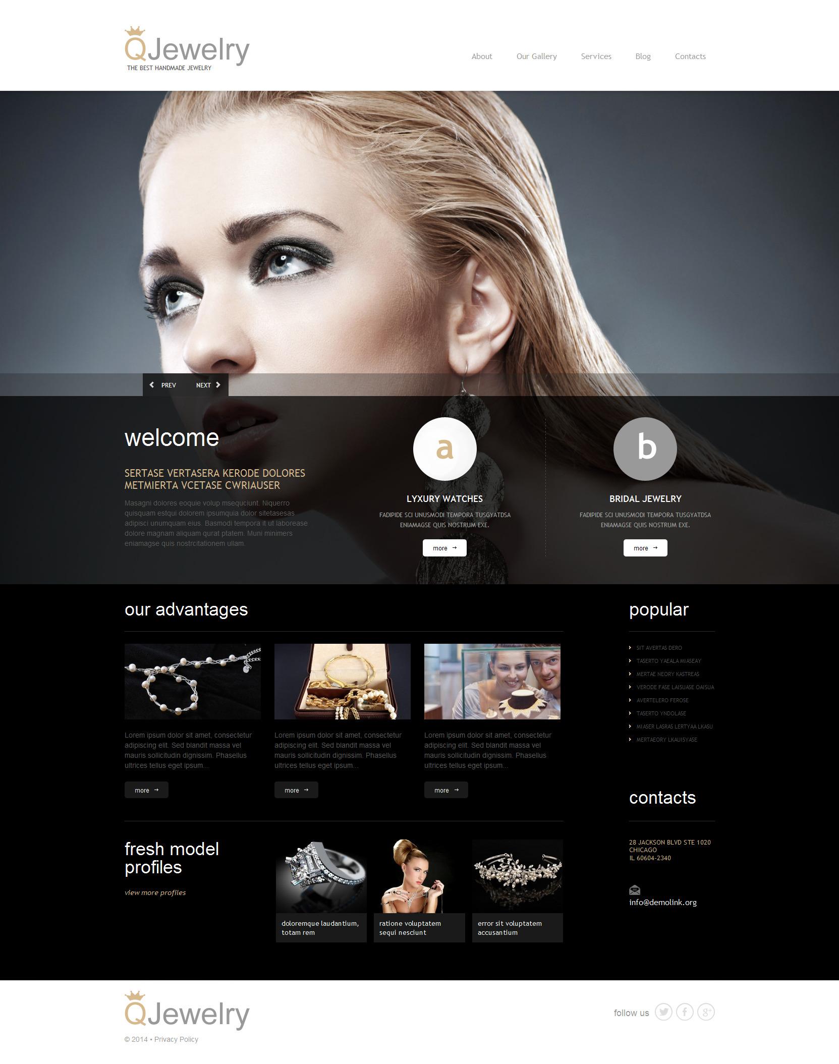 Responsywny motyw WordPress #51298 na temat: biżuteria - zrzut ekranu
