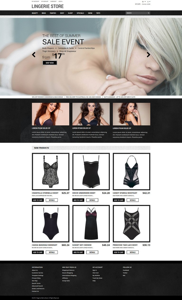 Romantic Lingerie Magento Theme New Screenshots BIG