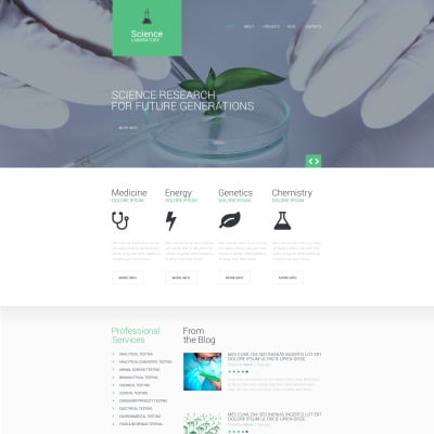 14+ Best Science Lab Website Templates | Science Lab HTML Templates