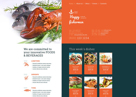 Seafood Restaurant Responsive
