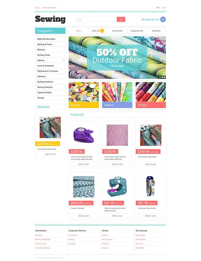 Sewing Tools OpenCart Template New Screenshots BIG