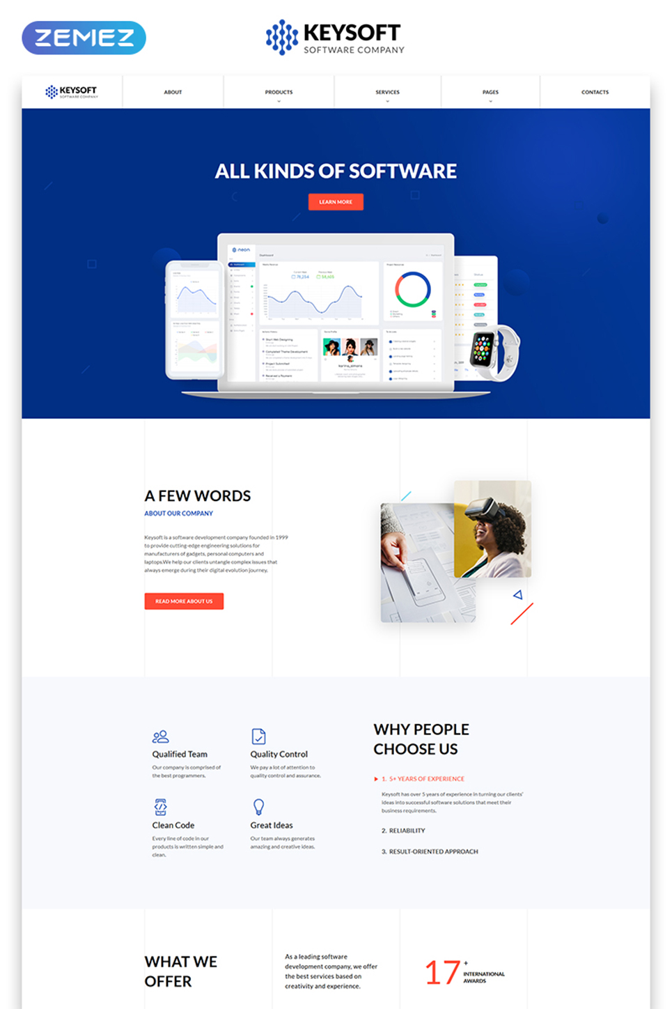 Software Company Responsive Website Template  51277