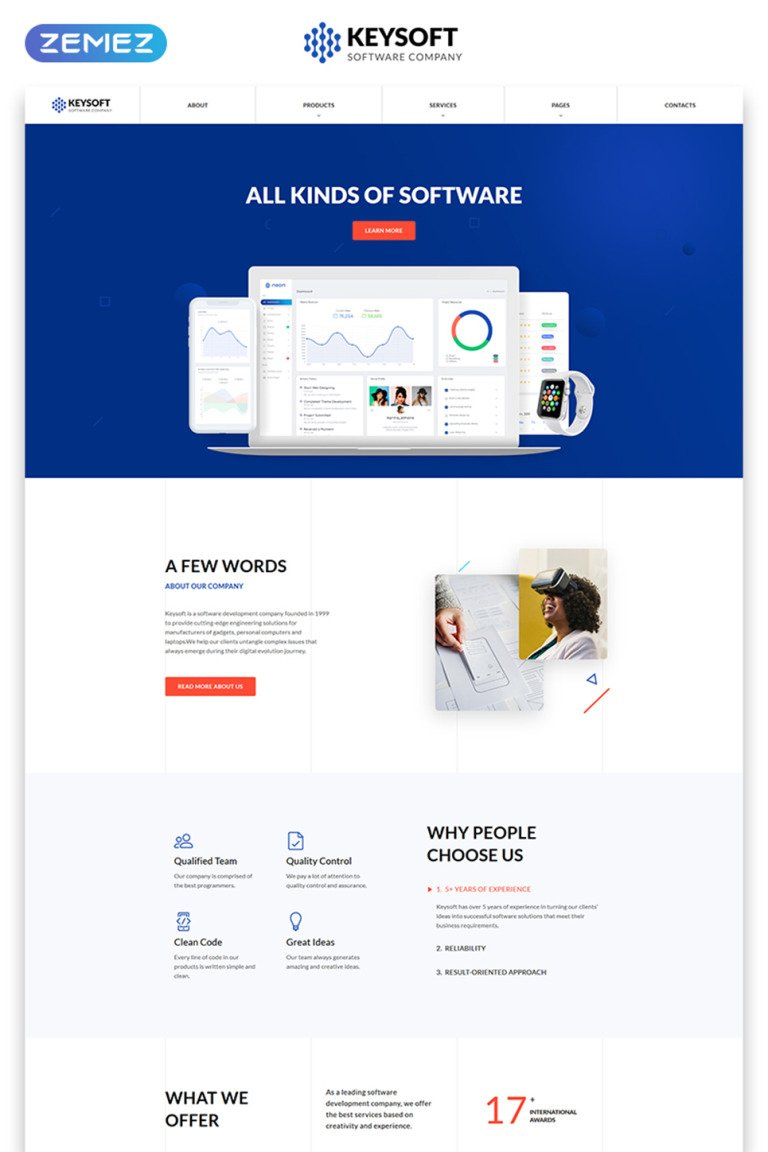 Software Company Responsive Website Template New Screenshots BIG