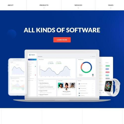 Software  - Responsive Website Template