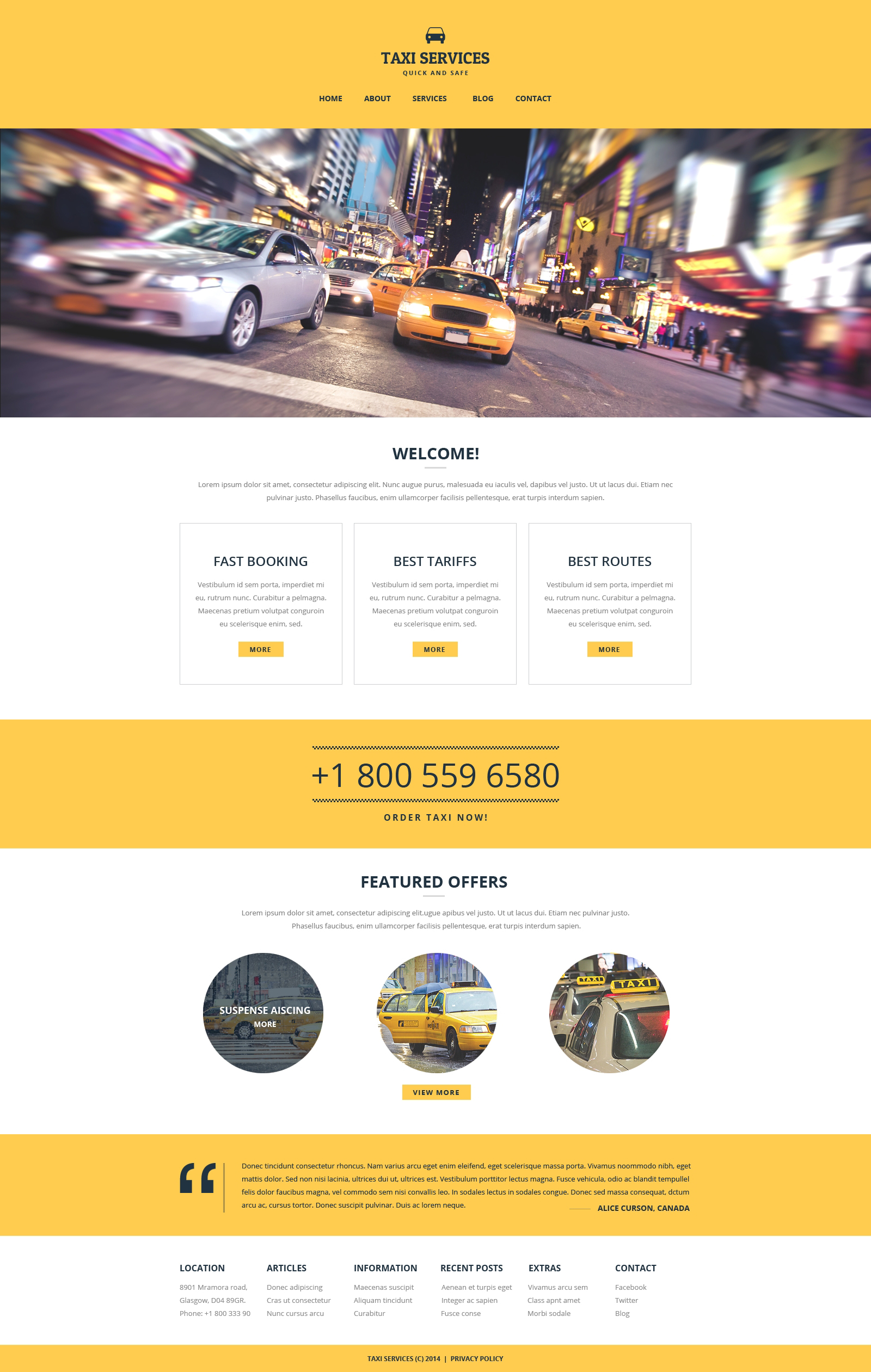 Taxi Responsive Website Template 51252