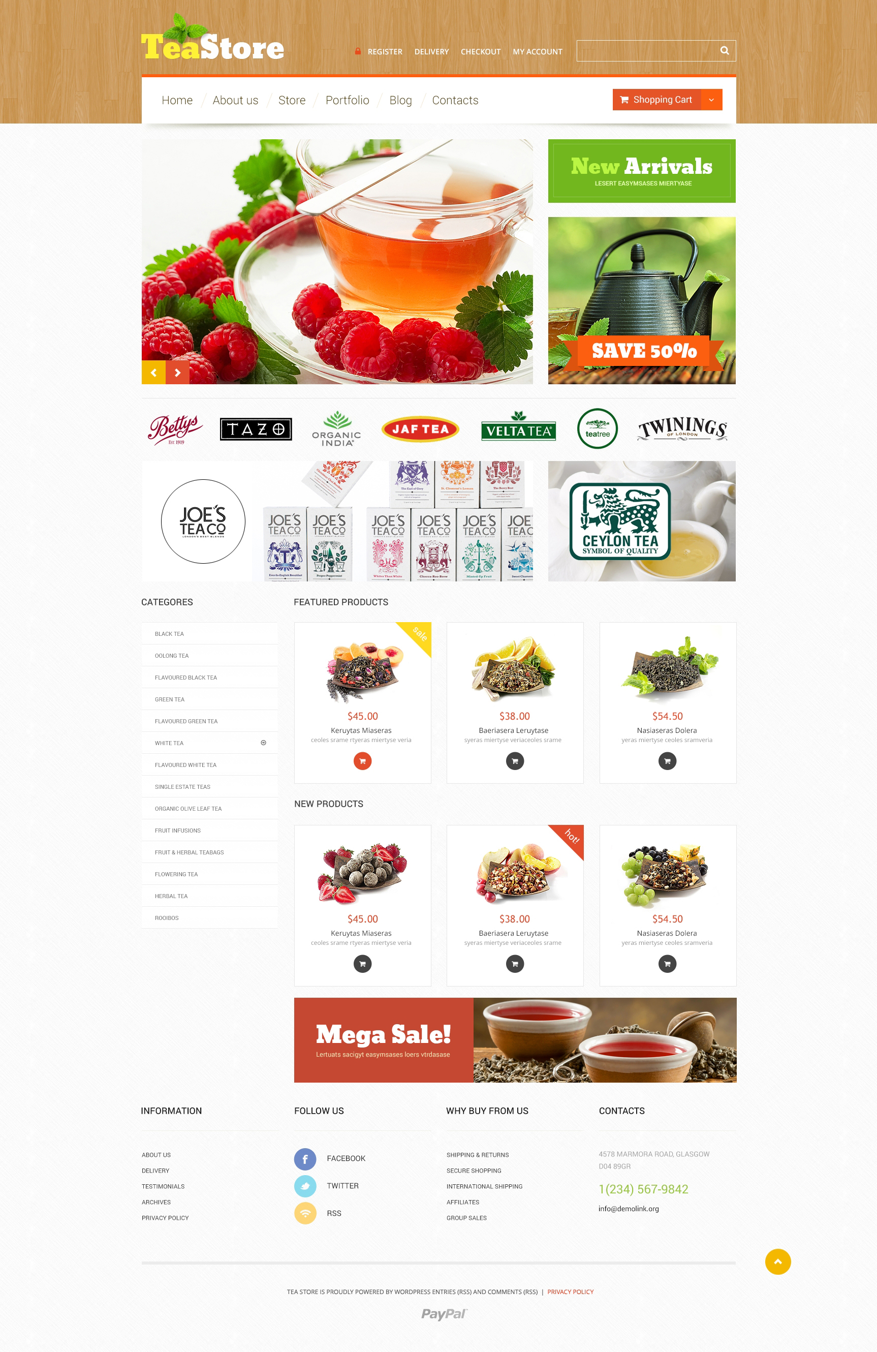 """Tea Ceremony"" Responsive WooCommerce Thema №51202 - screenshot"