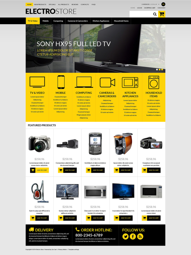 TechSavvy eStore ZenCart Template New Screenshots BIG